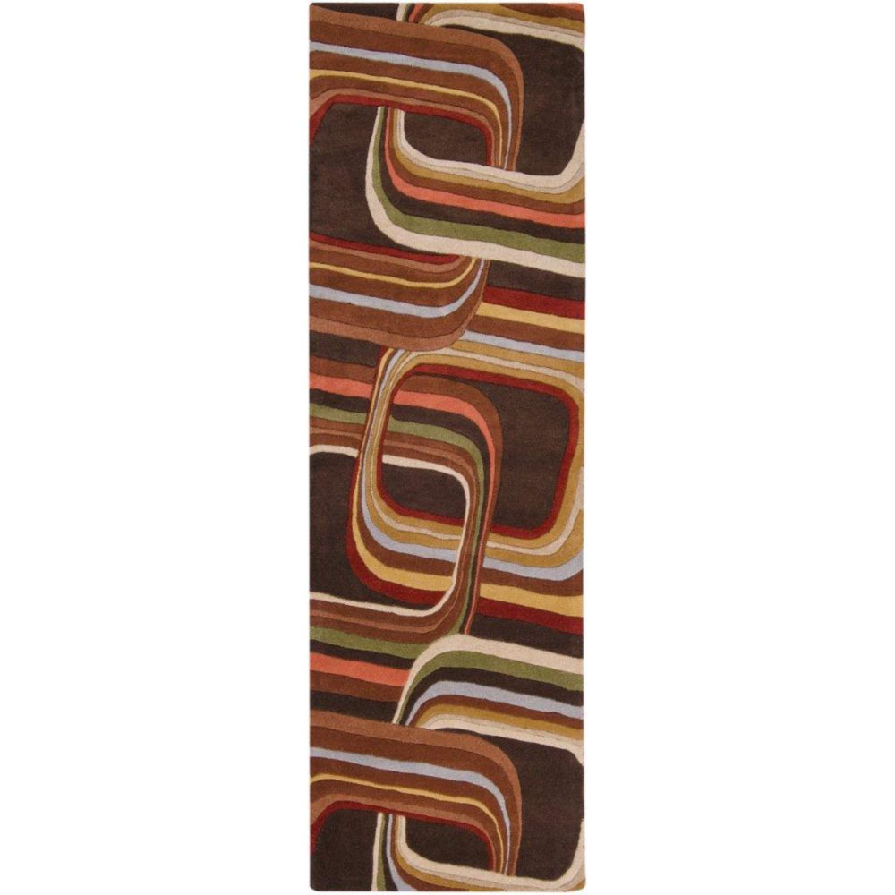Artistic Weavers Rai Brown 2 ft. 6-inch x 8 ft. Indoor Contemporary Runner