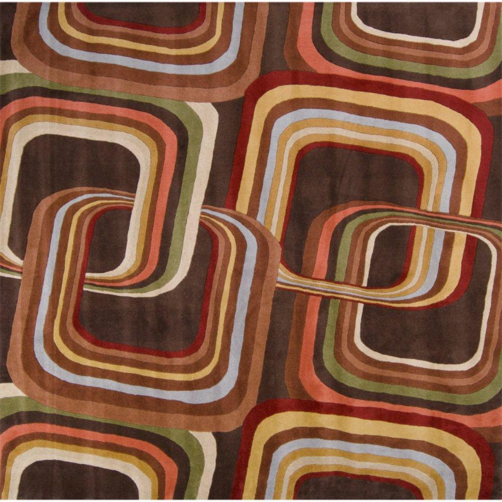 Rai Chocolate Wool 9 Feet x 9 Feet Square Area Rug