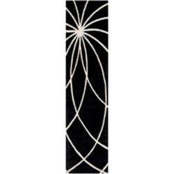 Artistic Weavers Tapis de passage d'intérieur, 3 pi x 12 pi, style contemporain, noir Rambouillet