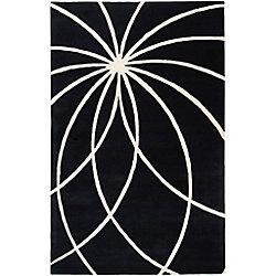 Artistic Weavers Rambouillet Black 5 ft. x 8 ft. Indoor Contemporary Rectangular Area Rug