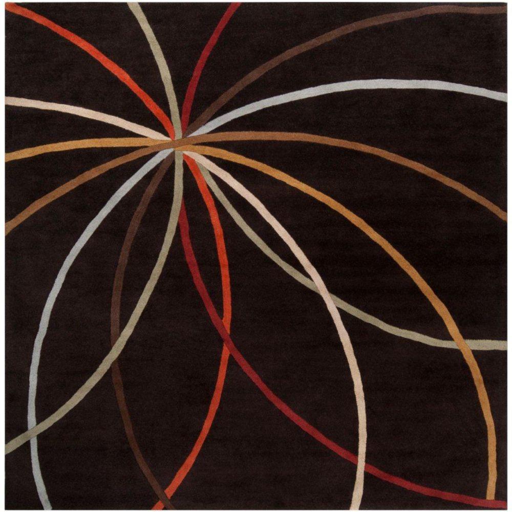 Tapis Sadirac chocolat en laine 9 Pi. x 9 Pi.