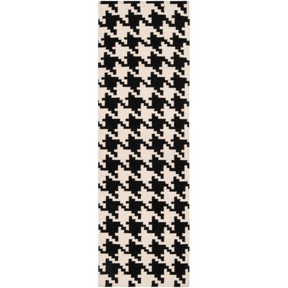 Tapis Passage Sahurs  ivoire en laine - 2 Po. 6 Pi. x 8 Po.