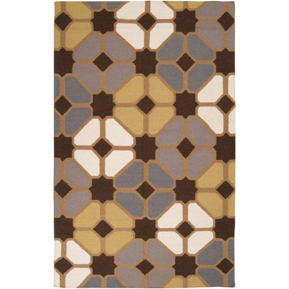 Taden Chocolate Wool  - 5 Ft. x 8 Ft. Area Rug