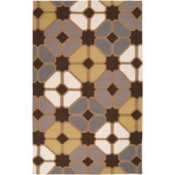 Artistic Weavers Carpette d'intérieur, 5 pi x 8 pi, à poils longs, style contemporain, rectangulaire, brun Taden
