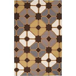Artistic Weavers Carpette d'intérieur, 8 pi x 11 pi, style contemporain, rectangulaire, brun Taden