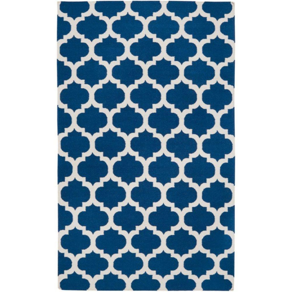 Taillades Royal Blue Wool  - 3 Ft. 6 In. x 5 Ft. 6 In. Area Rug