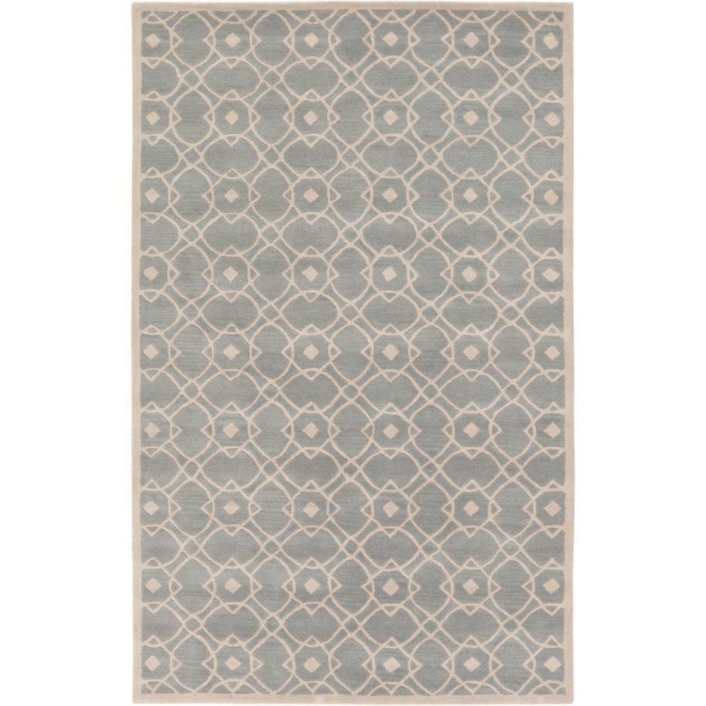 Taintrux Seafoam New Zealand Wool  - 8 Ft. x 11 Ft. Area Rug