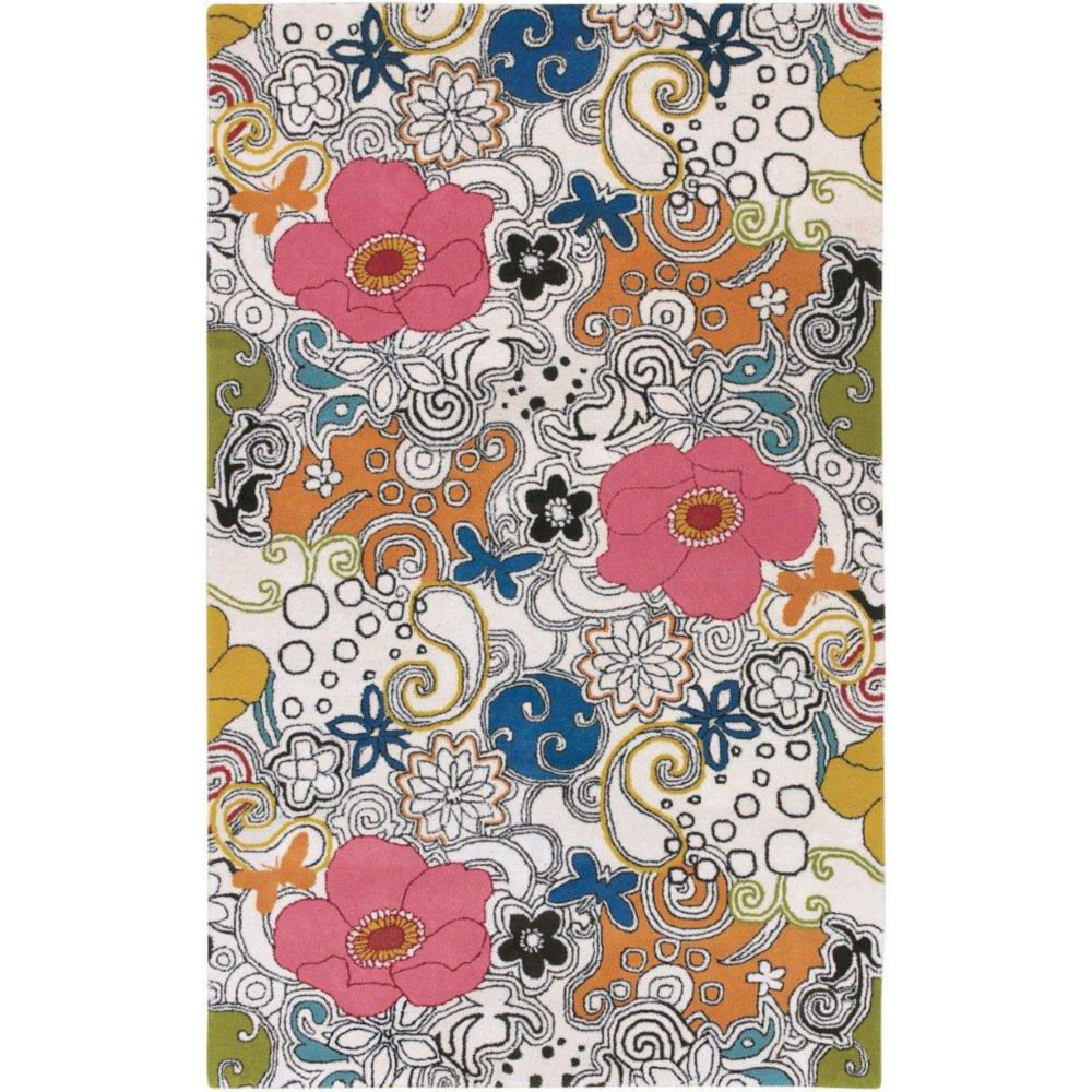 Talence White New Zealand Wool 3 Feet 3 Inch x 5 Feet 3 Inch Area Rug Talence-3353 Canada Discount
