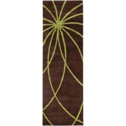 Artistic Weavers Tapis de passage d'intérieur, 2 pi 6 po x 8 pi, style contemporain, brun Randan