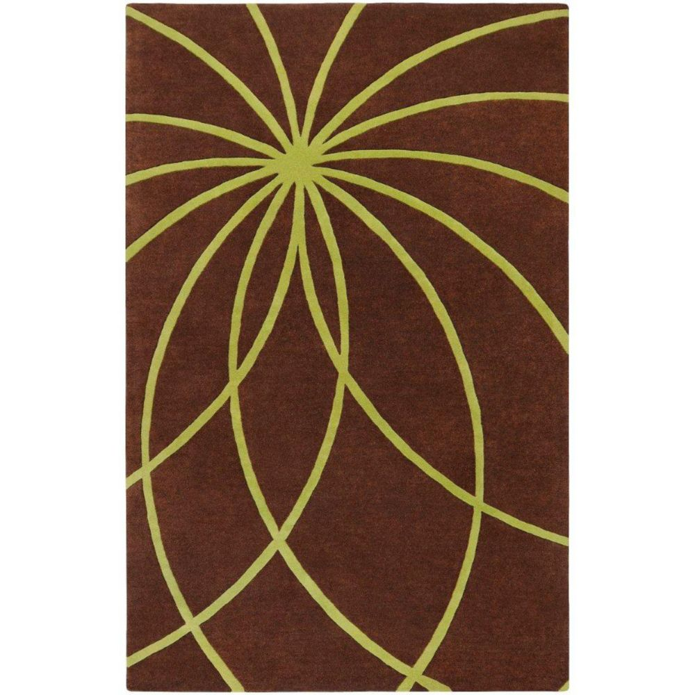 Randan Chocolate Wool 4 Ft. x 6 Ft. Area Rug Randan-46 Canada Discount
