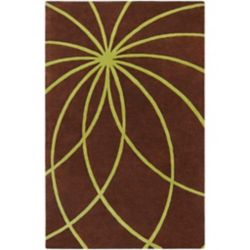 Artistic Weavers Randan Brown 4 ft. x 6 ft. Indoor Contemporary Rectangular Area Rug