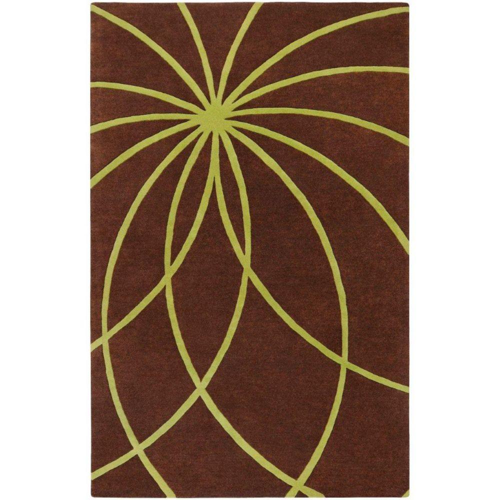 Randan Chocolate Wool 6 Feet x 9 Feet Area Rug