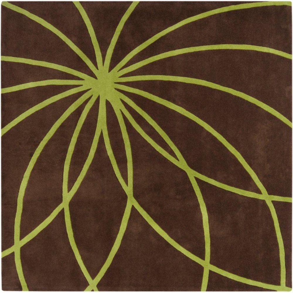 Artistic Weavers  Tapis Randan chocolat en laine 9 Pi. x 9 Pi.