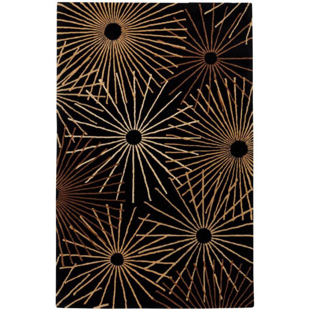 Rannee Black Wool 10 Feet x 14 Feet Area Rug