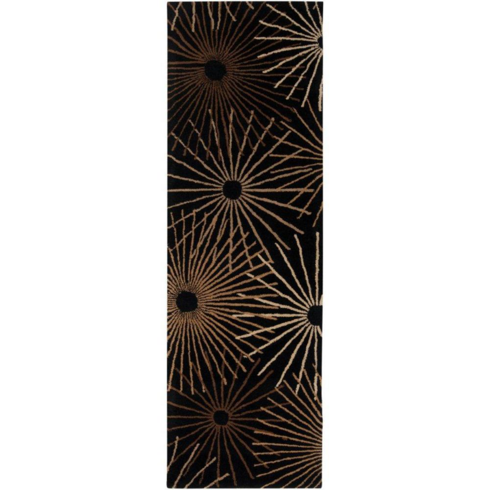 Artistic Weavers Rannee Black 2 ft. 6-inch x 8 ft. Indoor Contemporary Runner
