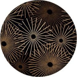Artistic Weavers Rannee Black 4 ft. x 4 ft. Indoor Contemporary Round Area Rug