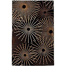 Artistic Weavers Rannee Black 6 ft. x 9 ft. Indoor Contemporary Rectangular Area Rug