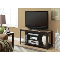 Monarch Specialties Meuble téléviseur, 47,5po x 24po x 18po, marron