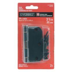 Everbilt 3 1/2-inch Aged Bronze 5/8rd Door Hinge (2-Pack)