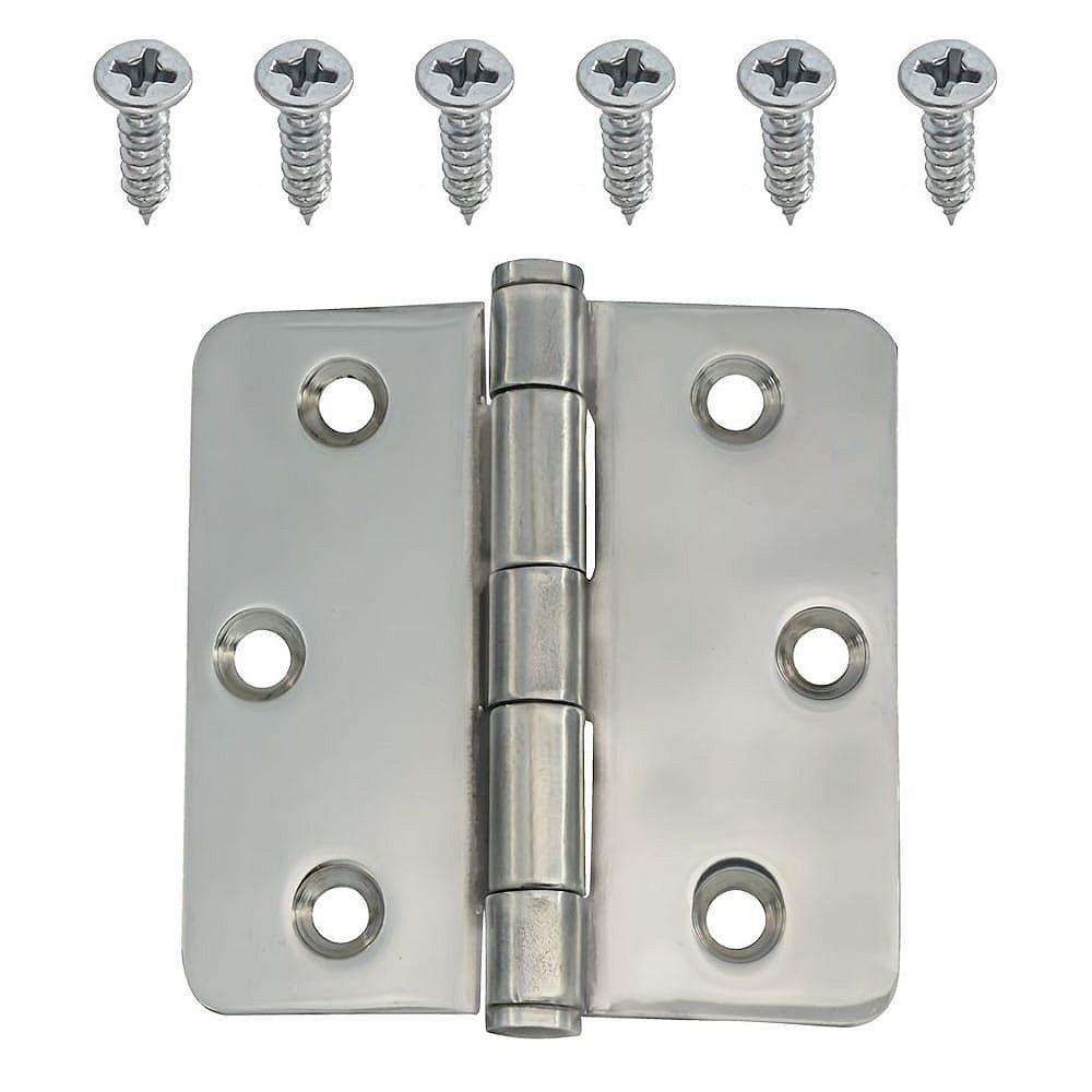 Everbilt 3-inch Stainless 1/4rd Door Hinge