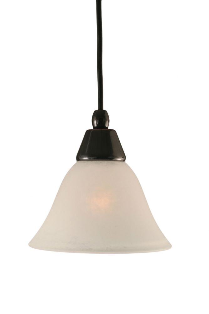 Concord 1-Light Ceiling Black Copper Pendant with a White Marble Glass