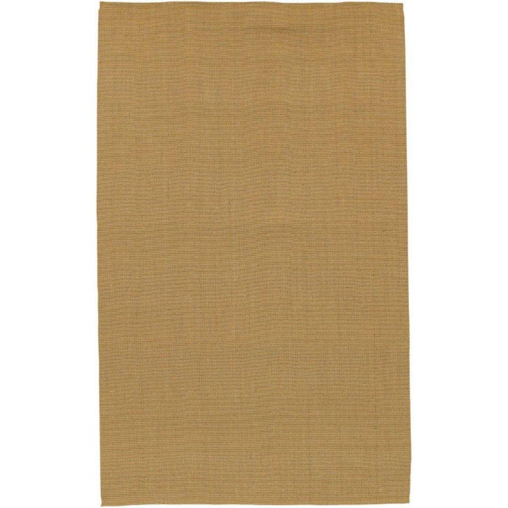 Artistic Weavers  Tapis Ucel brun en jute  3 Pi. 6 Po. x 5 Pi. 6 Po.