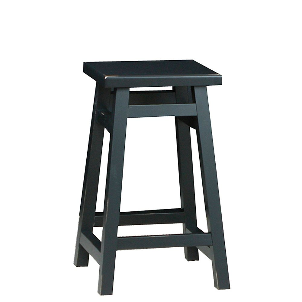 Antique Black 24 Inch O'Malley Pub Counter Stool