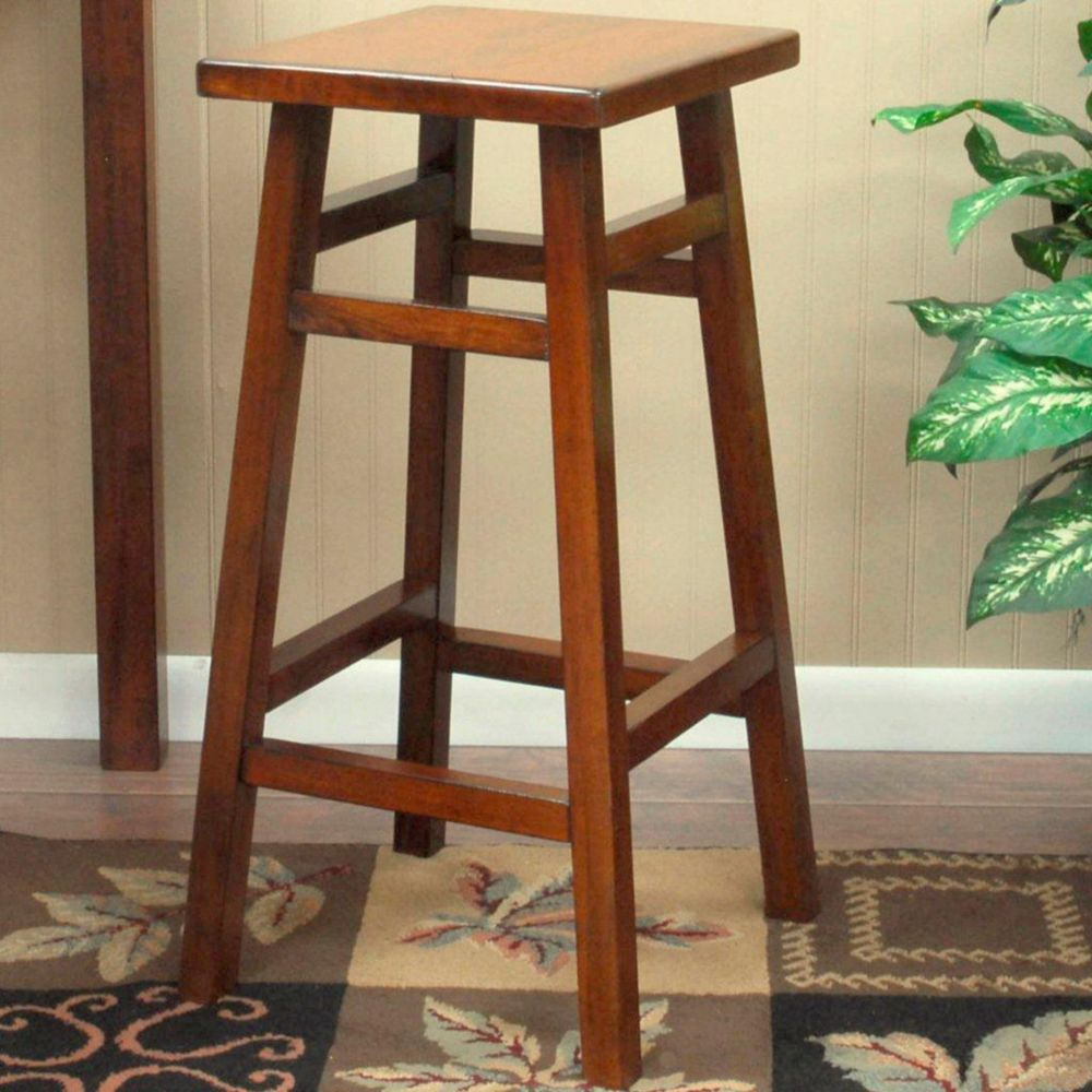 Walnut 30 Inch O'Malley Pub Barstool 1CS30-Walnut Canada Discount