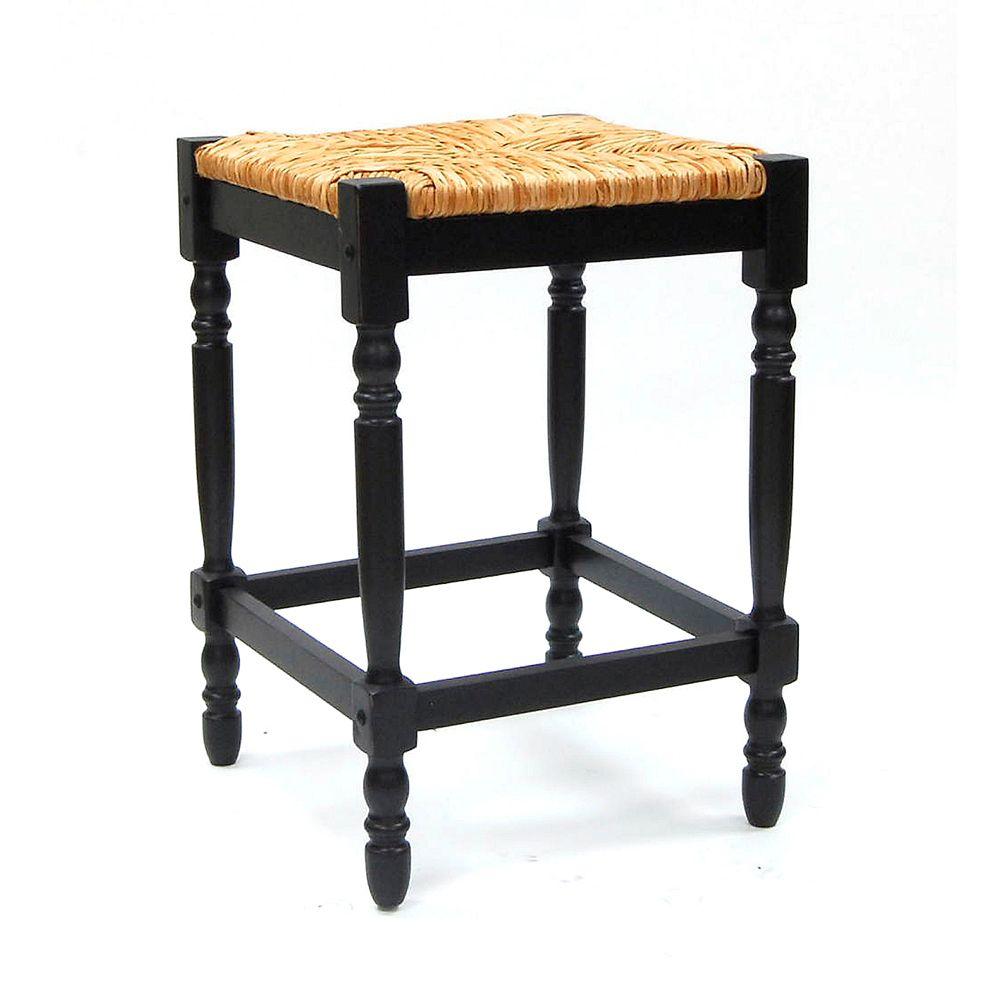 Noir antique Tabouret Hawthorne de  60,96 cm (24 po)