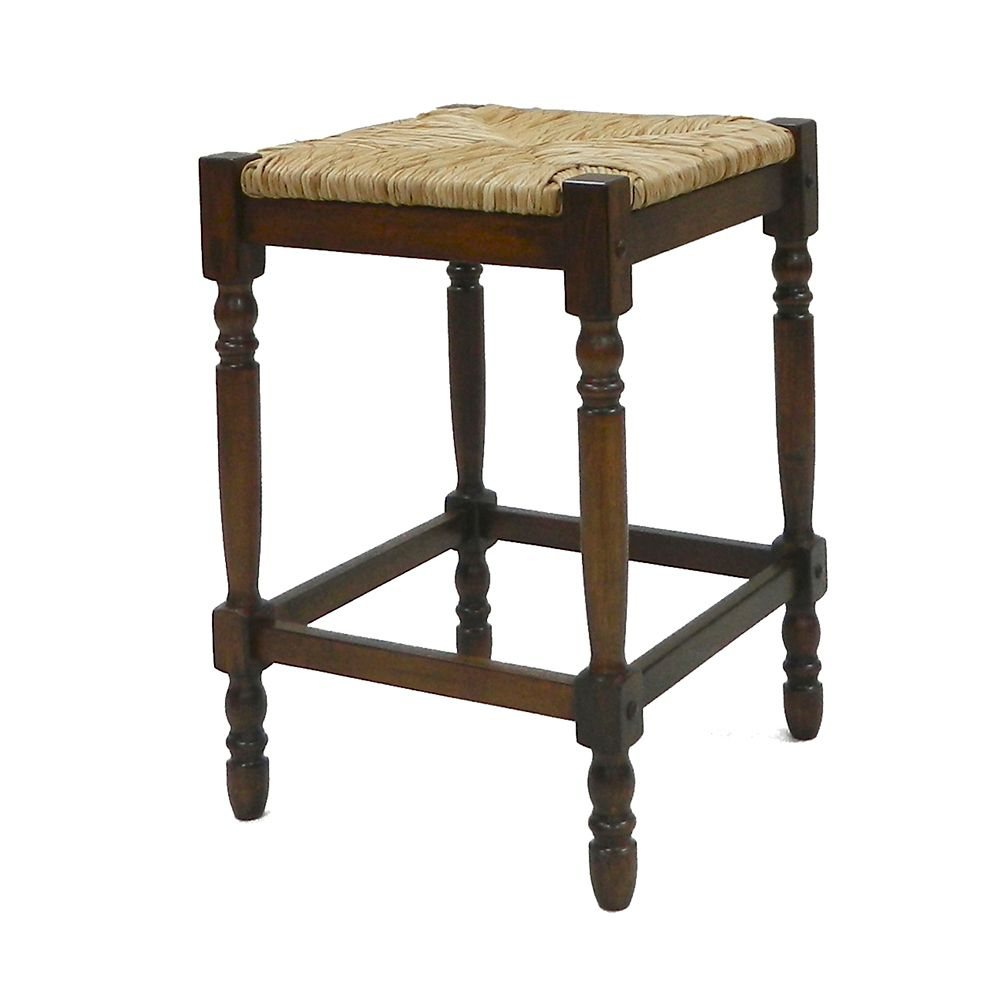 Carolina Cottage Chestnut 24 Inch Hawthorne Counter Stool The Home