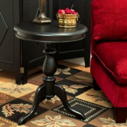 Carolina Cottage Antique Black Gilda Side Table