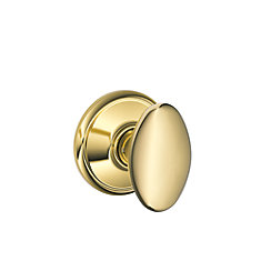 F10Sie605 Siena Polished Brass Passage Knob
