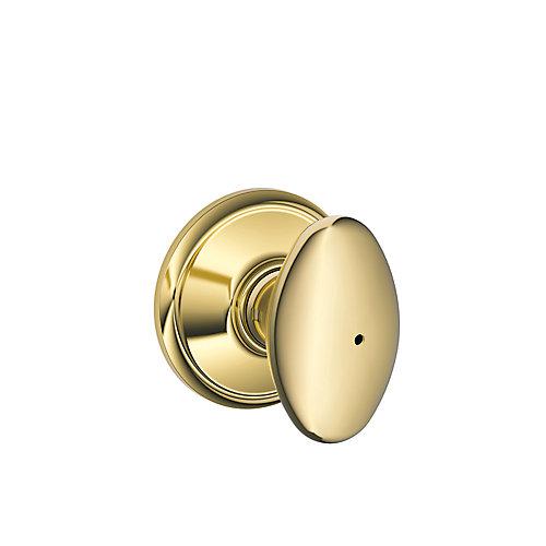 Sienna Polished Brass Privacy Knob