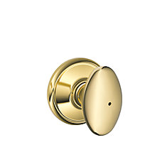 Sienna Polished Brass Privacy Knob