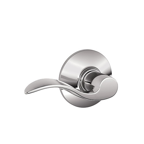 F10Acc625 Accent Chrome Lefthand/Righthand Passage Lever