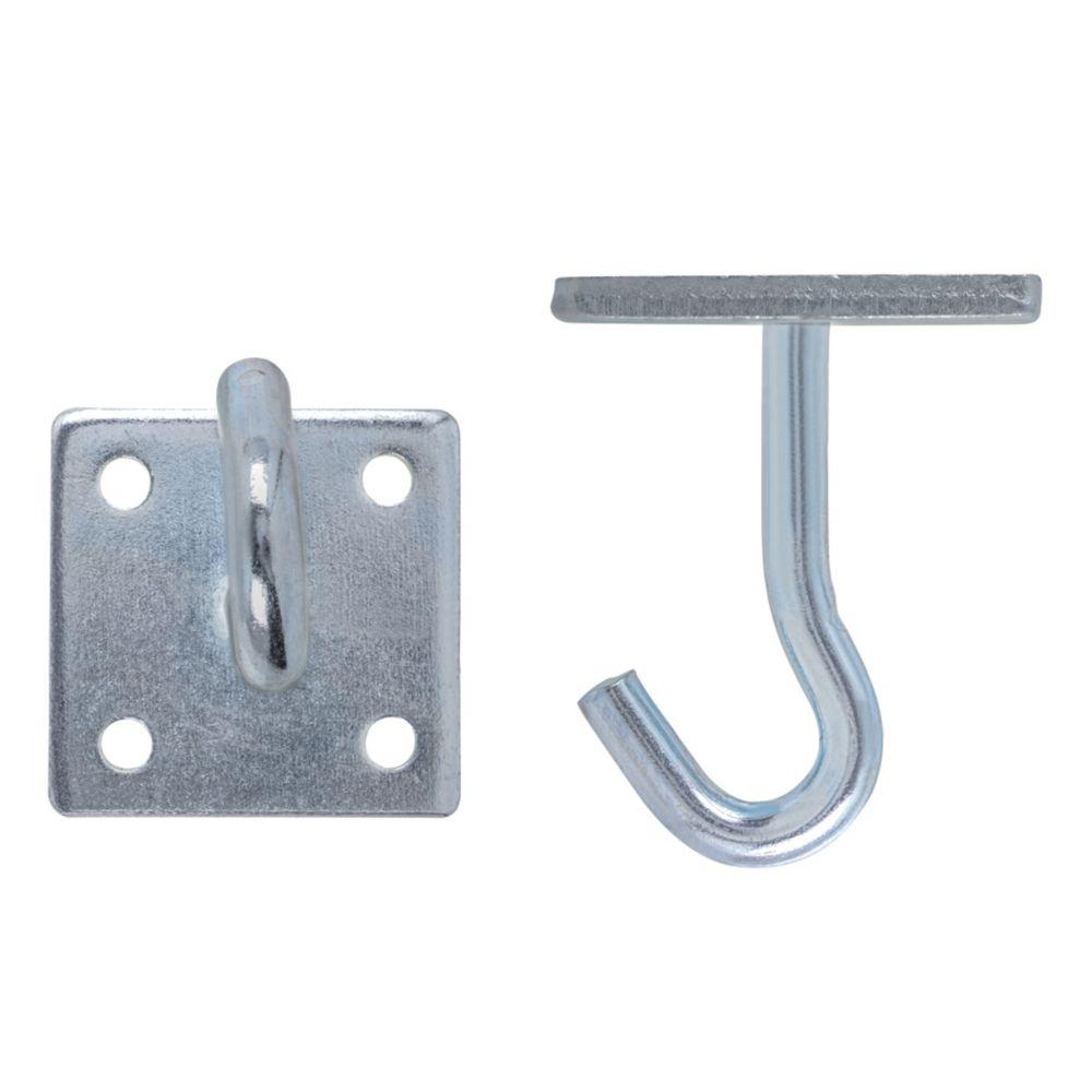 2 Inch  Zinc Rope Hook W/Plate