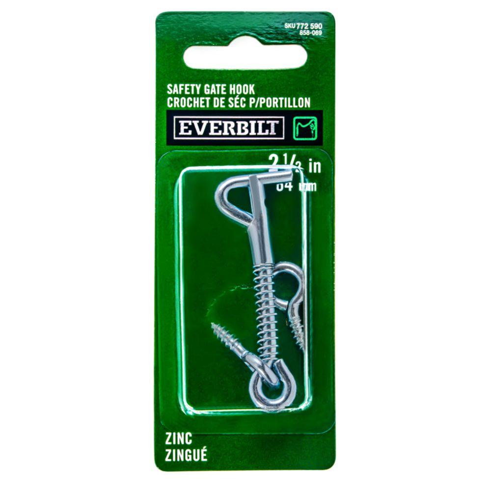 2-1/2 Inch Zinc Safety Gate Hook 858-069 Canada Discount