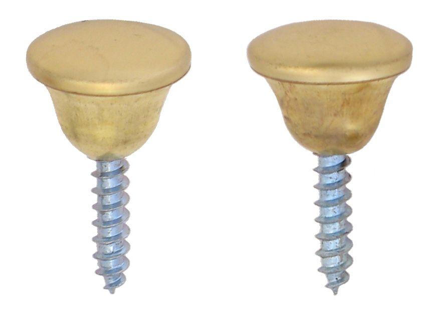 1/2 Inch  Brass Knob 2pk
