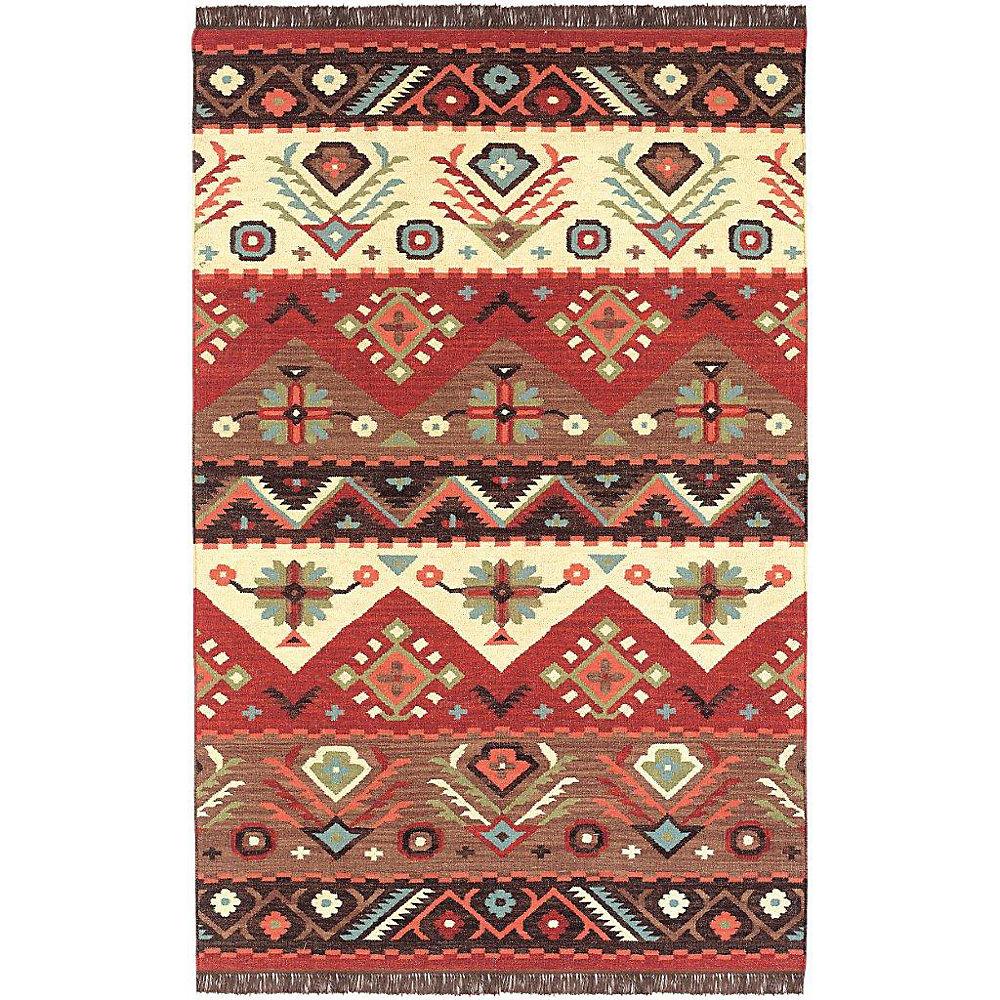 Vaiges Red 8 ft. x 11 ft. Indoor Textured Rectangular Area Rug