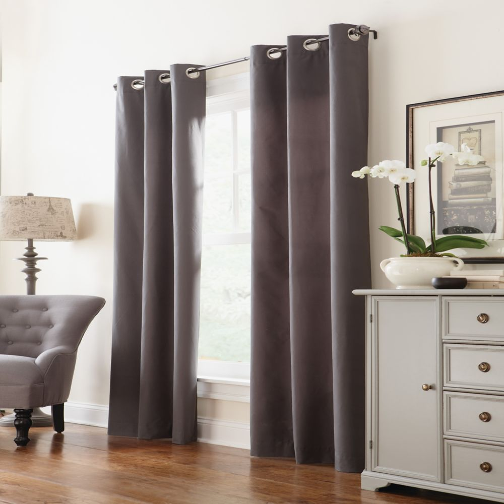 Insulated Curtain, Charcoal - 40 Inches x 84 Inches