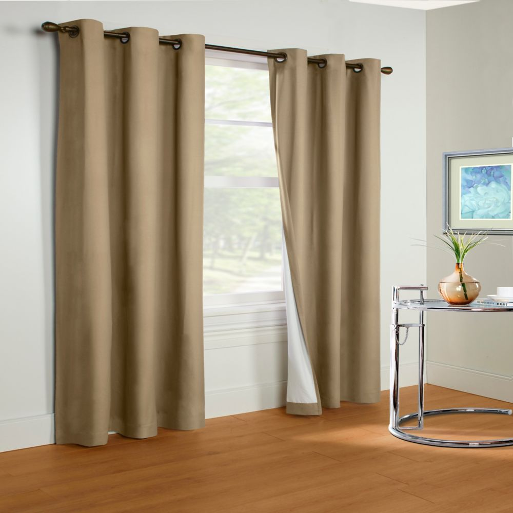 Insulated Curtain, Taupe - 40 Inches x 84 Inches