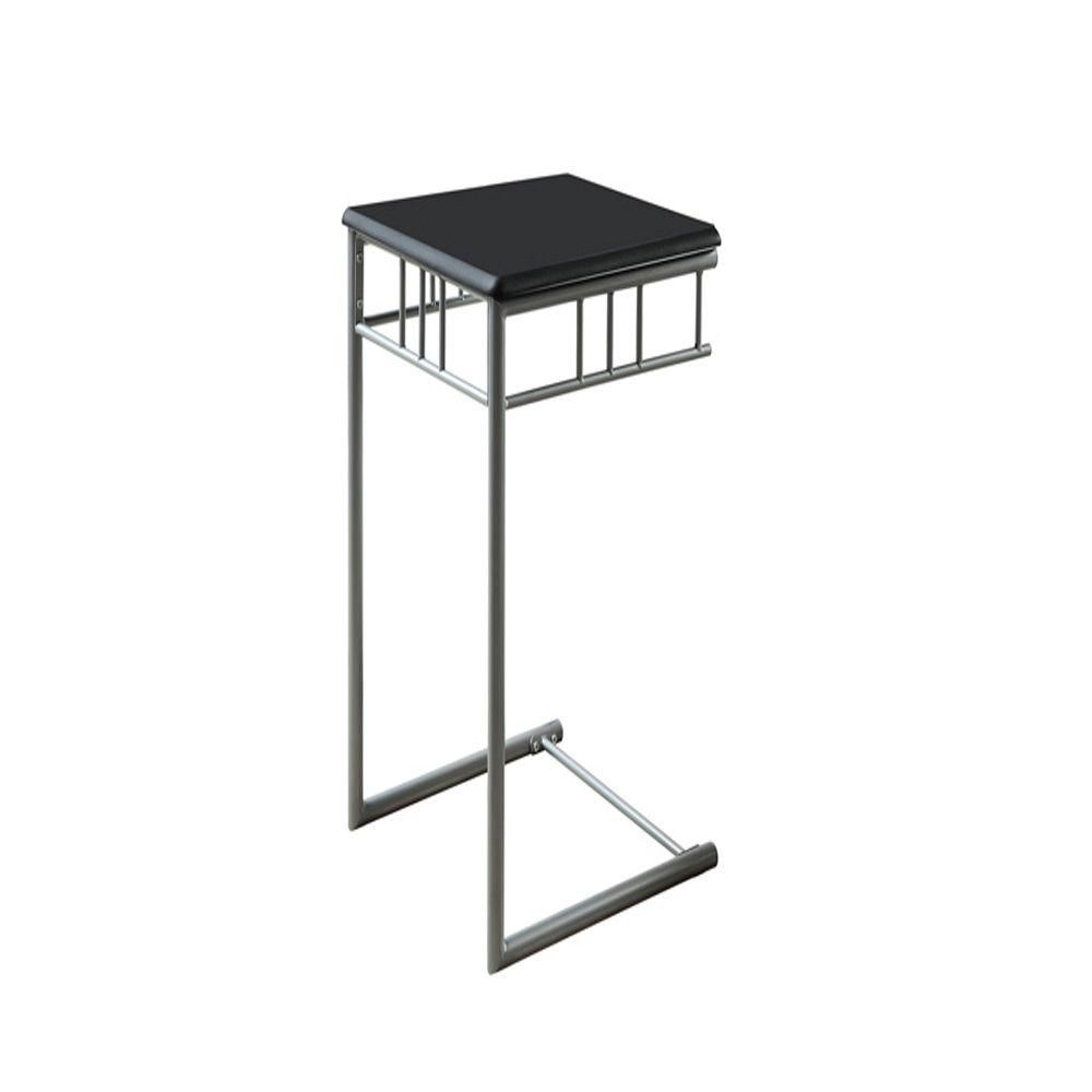 Table D'Appoint - Noir / Metal Argent