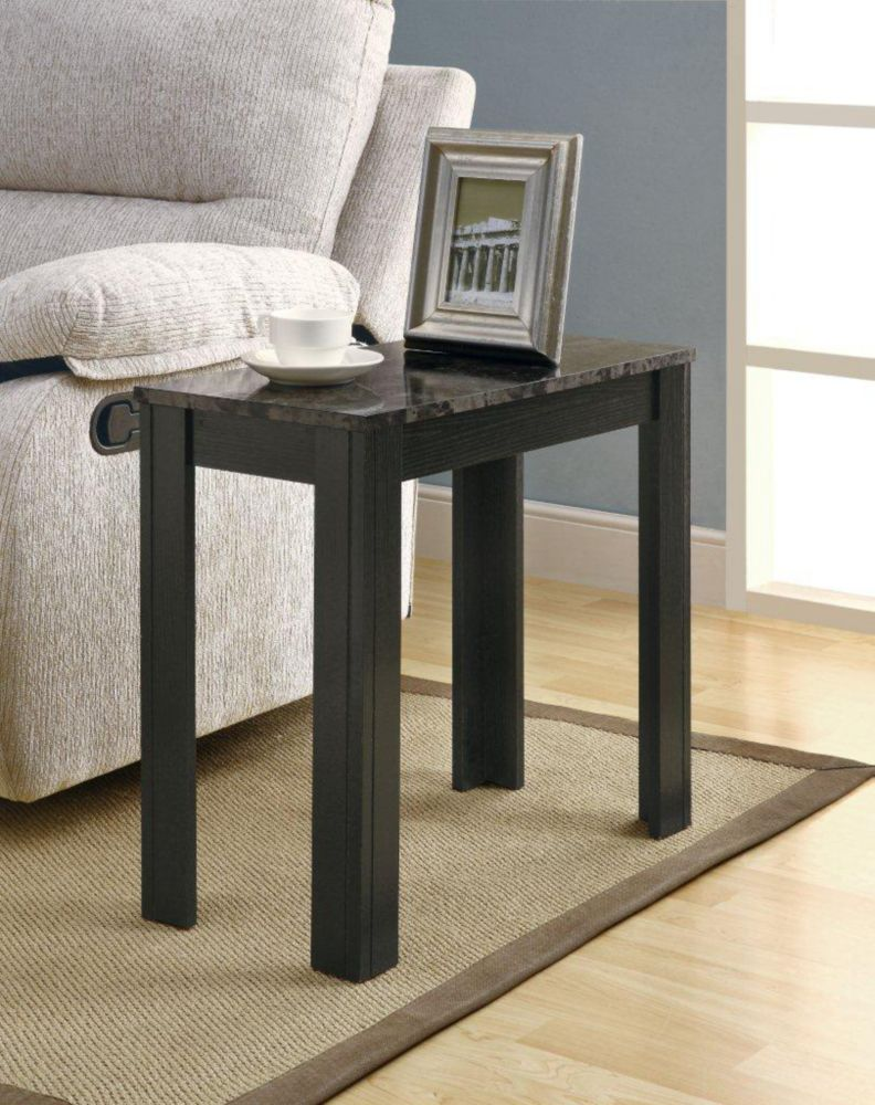 monarch specialties table d 39 appoint noir marbre gris. Black Bedroom Furniture Sets. Home Design Ideas