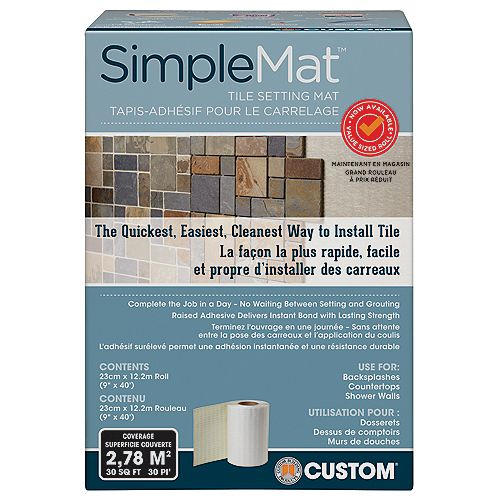 Custom Building Products SimpleMat Tile Setting Mat Contractor Roll 30 Sq. Feet