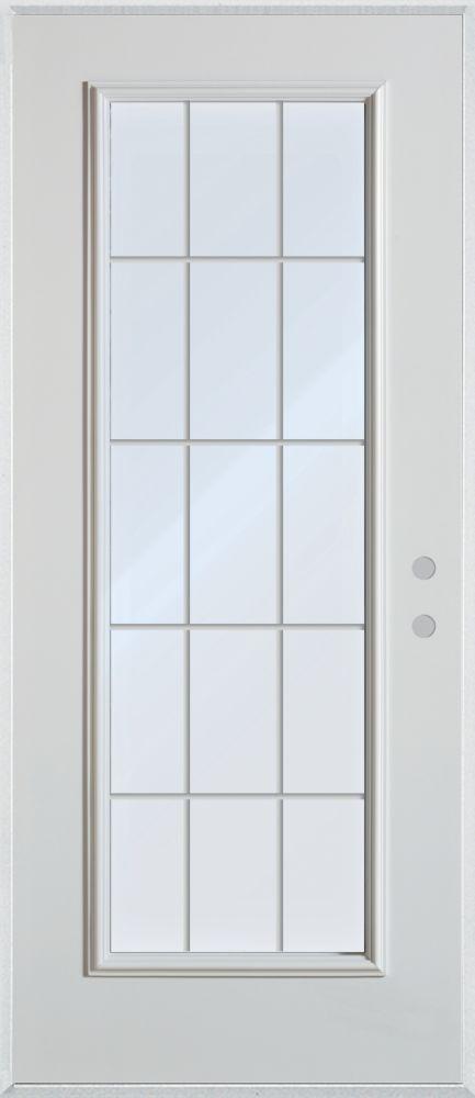Stanley Doors 35375 Inch X 82375 Inch 12 Lite 2 Panel Prefinished
