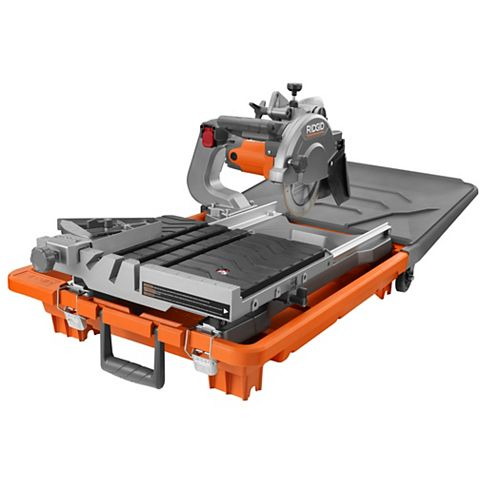 RIDGID 8 in. Jobsite Wet Tile Saw