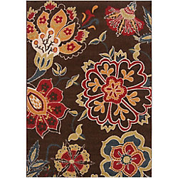 Artistic Weavers Wassigny Brown 5 ft. 3-inch x 7 ft. 6-inch Indoor Transitional Rectangular Area Rug