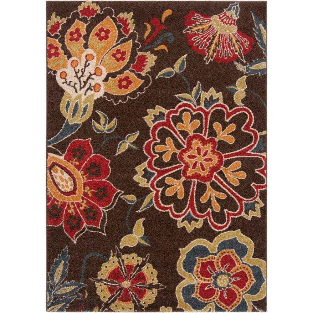 Wassigny Blue Polypropylene 6 Ft. 7 In. x 9 Ft. 6 In. Area Rug