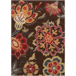Artistic Weavers Wassigny Brown 6 ft. 7-inch x 9 ft. 6-inch Indoor Transitional Rectangular Area Rug