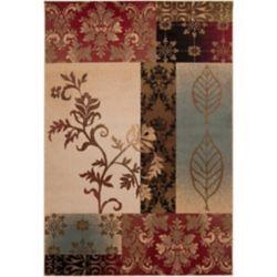 Artistic Weavers Carpette d'intérieur, 4 pi x 5 pi 5 po, style transitionnel, rectangulaire, rouge Wetaskiwin Tea Leaves